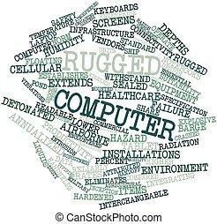 computadora, escabroso
