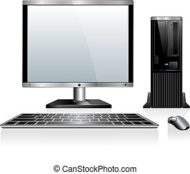 computadora, escritorio