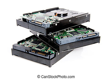 computadora, harddrive, tabla, circuito, ramo
