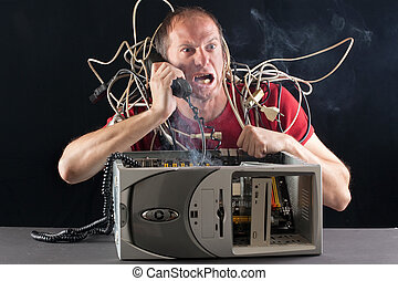 computadora hombre, problema