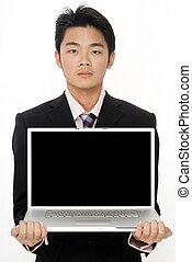 computadora, hombre