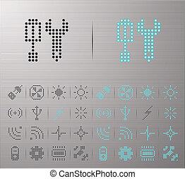 computadora, iconos del internet
