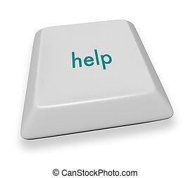 computadora, -, llave de ayuda