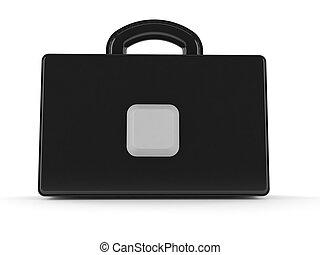 computadora, maletín, llave