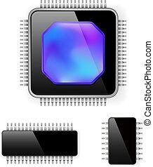 computadora, microcircuito