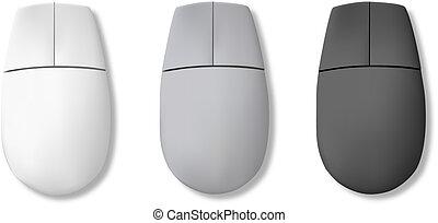 computadora, mouse., vector