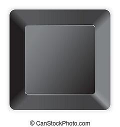 computadora, negro, llave, blanco