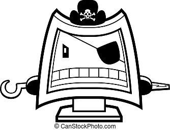 computadora, pirata