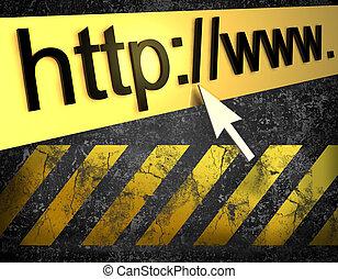 computadora, plano de fondo, http, página web