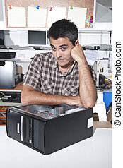 computadora, problem:, pc, técnico, en, taller