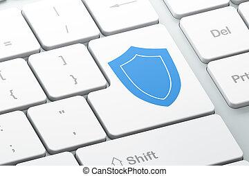 computadora, seguridad, protector, concept:, teclado