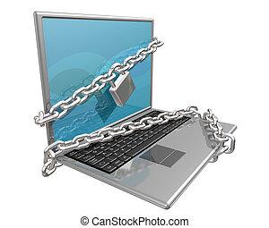 computadora, seguro, su