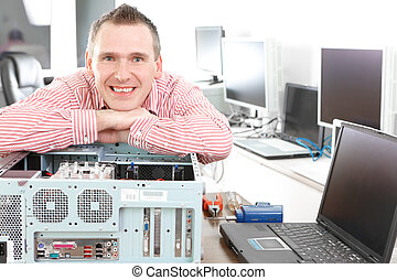 computadora, servicio, dueño