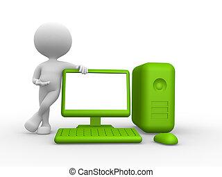 computadora, verde