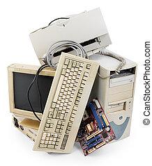 computadora, viejo