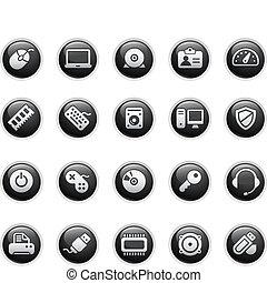 computadora, y, dispositivos