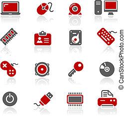 computadora, y, dispositivos, /, redico
