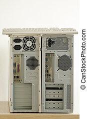 computadoras, viejo, sucio, keybord