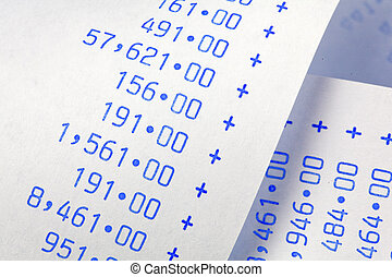computational, raies, à, numbers., coûts, dépenses, revenus,...