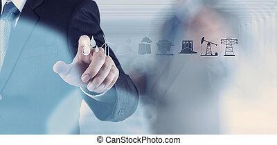 compute, ビジネス, 産業, 事実上, 手, 図, 仕事, エンジニア