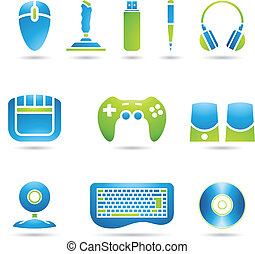 Computer Accessories - Various graphic design style PC...