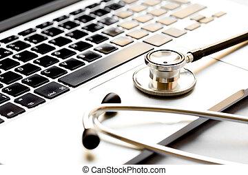 computer, afbeelding, concept, -, diagnostisch
