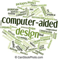 Computer-aided design - Abstract word cloud for...
