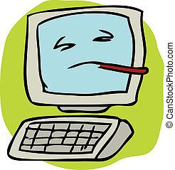computer, ammalato