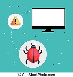 computer and alert virus