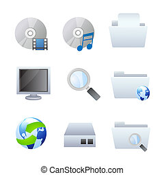 Computer and browser icons