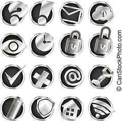 Computer and internet icons set