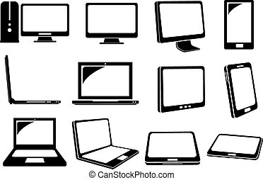 Computer and Laptop Vector Icons