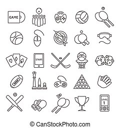 Computer and sports games icons