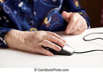 computer, anziano