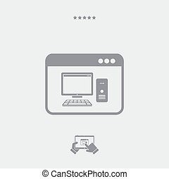 Computer application icon