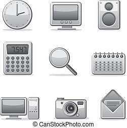 computer applications icon set