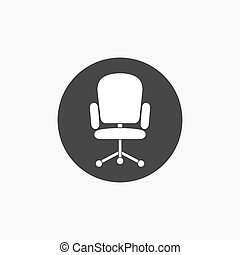 Computer armchair vector icon.