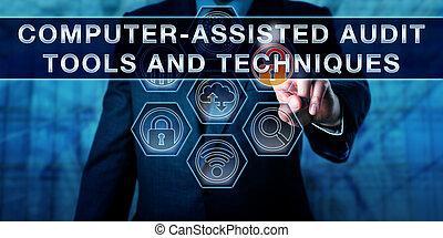 computer-assisted, controle, gereedschap, en, techniek