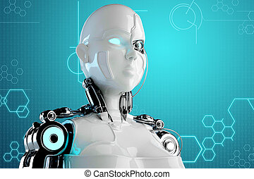 computer background with robot