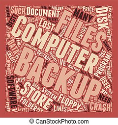 Computer Backup text background wordcloud concept