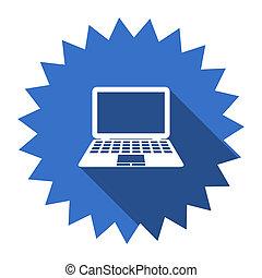 computer blue flat icon