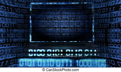 Computer bug - Computer having a bug with binary codes all...