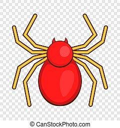 Computer bug icon, cartoon style
