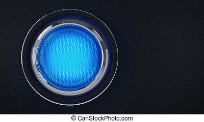Computer Button. 3d rendering