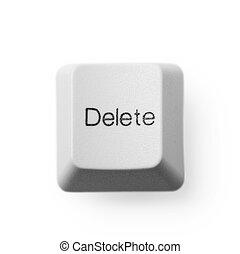 Computer button - delete - Computer button labeled - delete,...