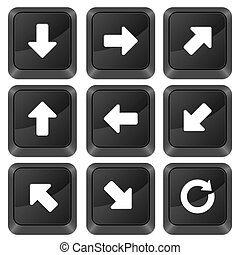 computer buttons arrows