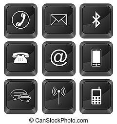 computer buttons communication