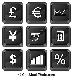 computer buttons finances