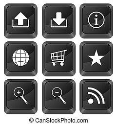 computer buttons internet symbol