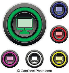 Computer buttons set
